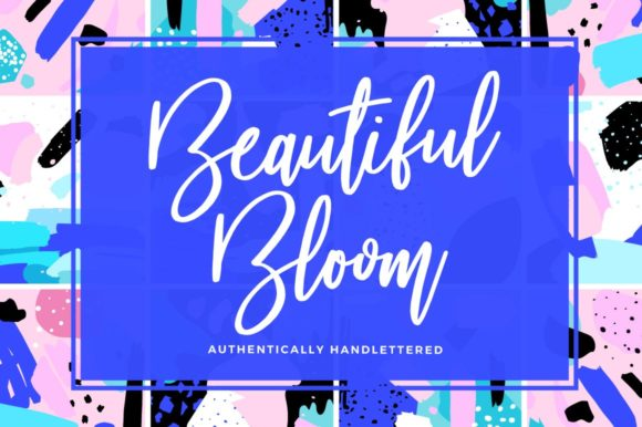 Print on Demand: Beautiful Bloom Script & Handwritten Font By wornoutmedia