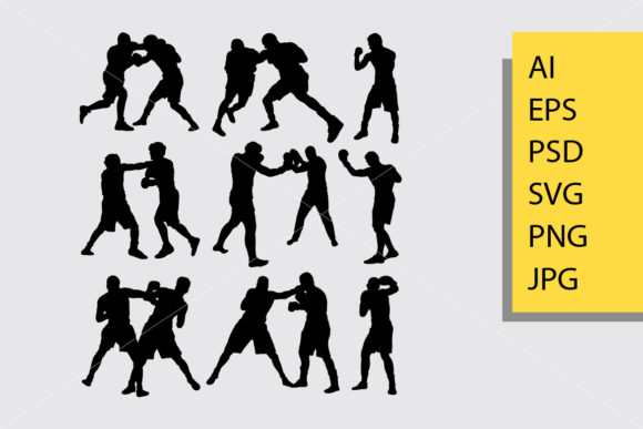 Boxing Silhouette Graphic By Cove703