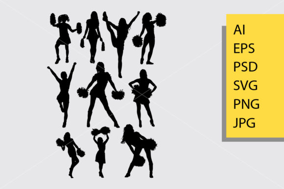 Cheerleader Silhouette Graphic By Cove703