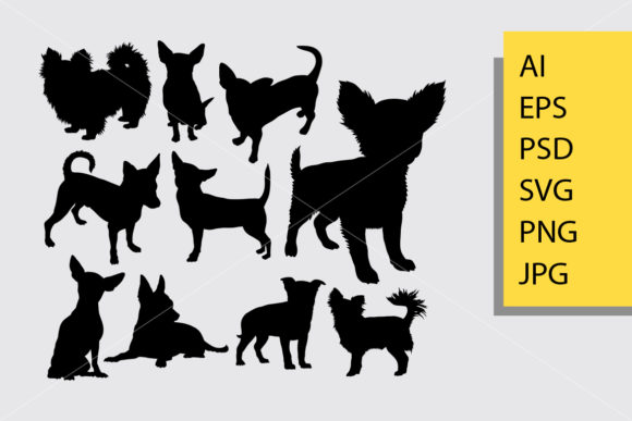 Chihuahua Dog Silhouette Graphic By Cove703