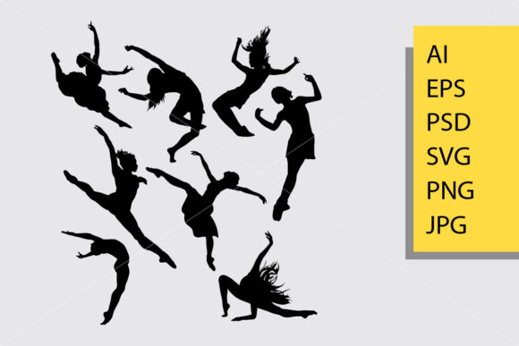 Modern Dance Silhouette Graphic By Cove703