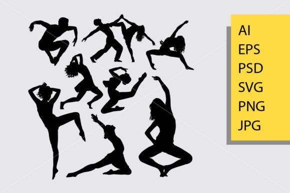 Dance Posing Silhouette Graphic By Cove703