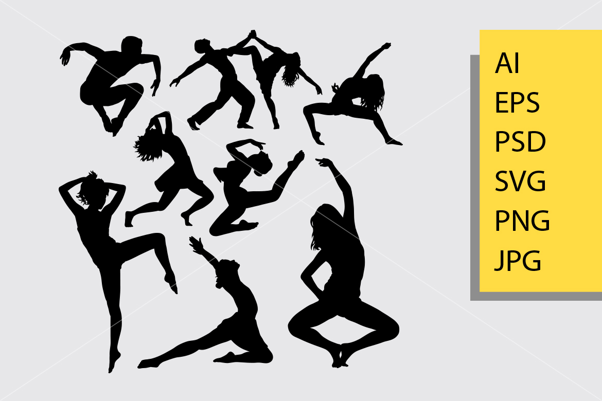 Download Free Dance Posing Silhouette Graphic By Cove703 Creative Fabrica for Cricut Explore, Silhouette and other cutting machines.
