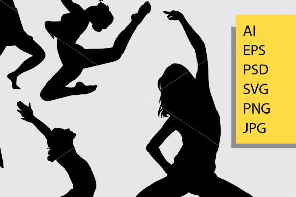 Download Free Dance Posing Silhouette Graphic By Cove703 Creative Fabrica SVG Cut Files
