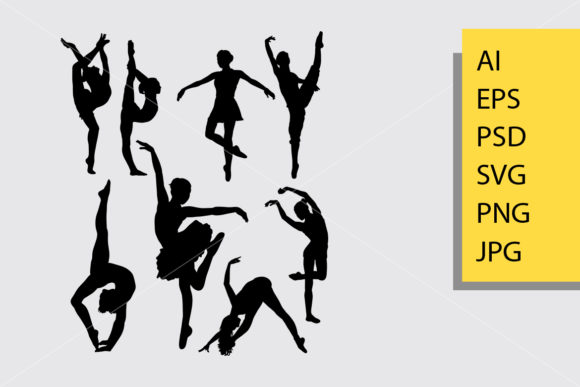 Dancing 1 Man and Woman Silhouette Graphic By Cove703