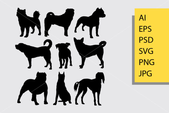 Dog Animal Silhouette Graphic Illustrations By Cove703