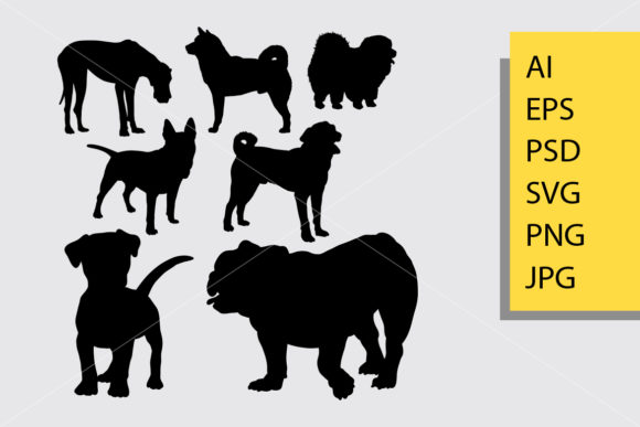 Doggy Silhouette Graphic Illustrations By Cove703