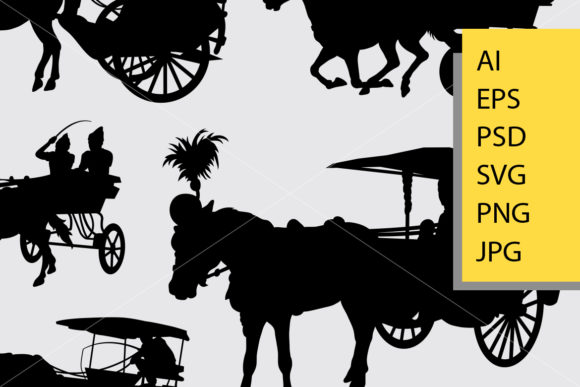 Horse Carriage Silhouette Graphic Illustrations By Cove703 - Image 2