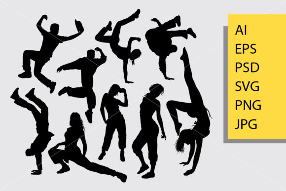 Download Free Free Style Dance Silhouette Graphic By Cove703 Creative Fabrica for Cricut Explore, Silhouette and other cutting machines.