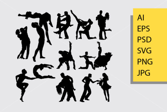 Happy Dance Silhouette Graphic By Cove703