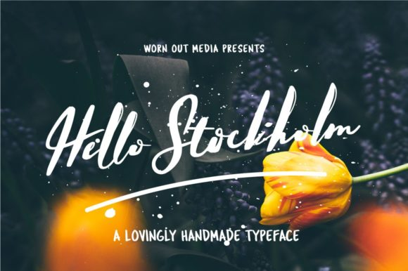 Print on Demand: Hello Stockholm Script & Handwritten Font By wornoutmedia