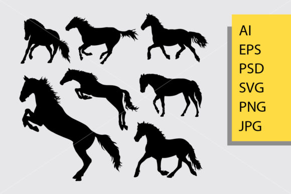 Horse Silhouette Graphic By Cove703