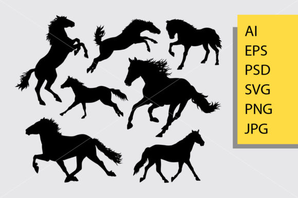 Horse Silhouette Graphic Illustrations By Cove703