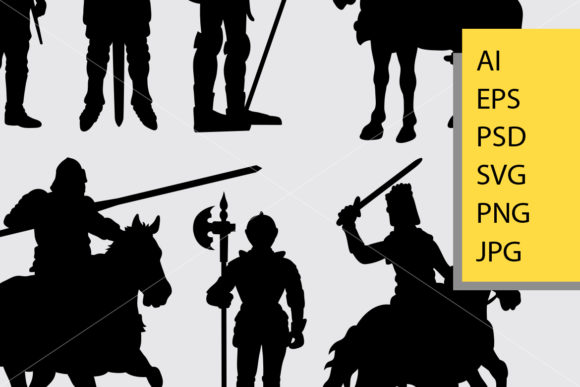 Knight Warrior Silhouette Graphic Illustrations By Cove703 - Image 2