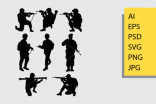 Military Silhouette Graphic Illustrations By Cove703