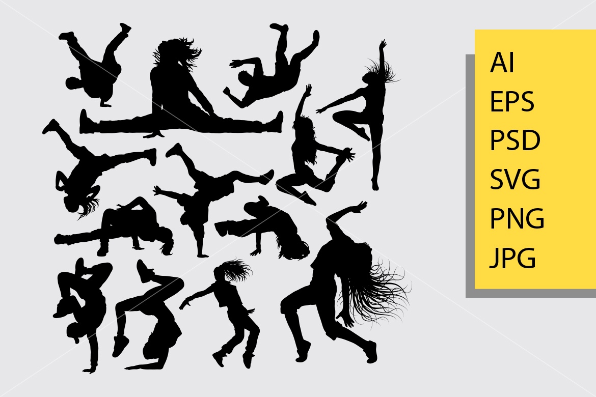 Download Free People Dance Silhouette Graphic By Cove703 Creative Fabrica for Cricut Explore, Silhouette and other cutting machines.