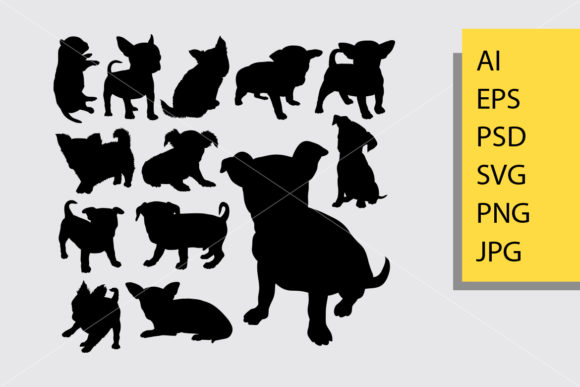 Puppy Dog Silhouette Graphic Illustrations By Cove703