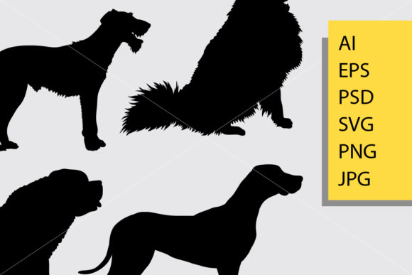 Download Free Puppy And Dog Silhouette Graphic By Cove703 Creative Fabrica for Cricut Explore, Silhouette and other cutting machines.