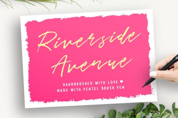 Print on Demand: Riverside Avenue Script & Handwritten Font By wornoutmedia