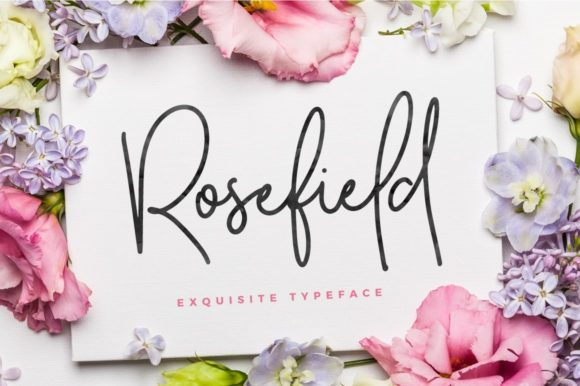 Print on Demand: Rosefield Script & Handwritten Font By wornoutmedia