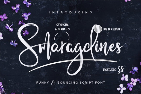 Print on Demand: Smaragdines Script & Handwritten Font By wornoutmedia