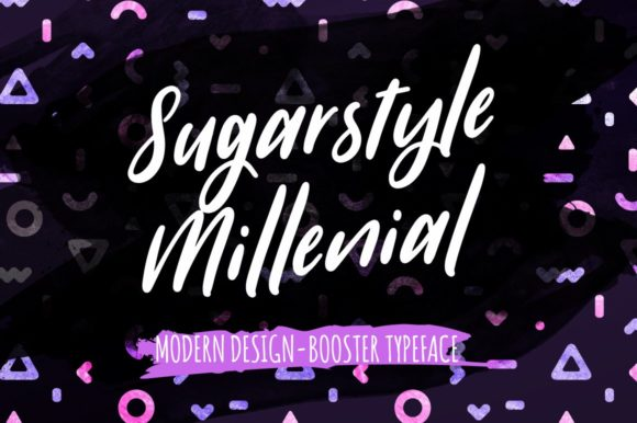 Print on Demand: Sugarstyle Millenial Script & Handwritten Font By wornoutmedia