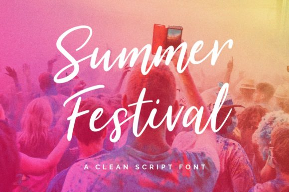 Print on Demand: Summer Festival Script & Handwritten Font By wornoutmedia