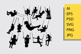Swing Silhouette Graphic Illustrations By Cove703