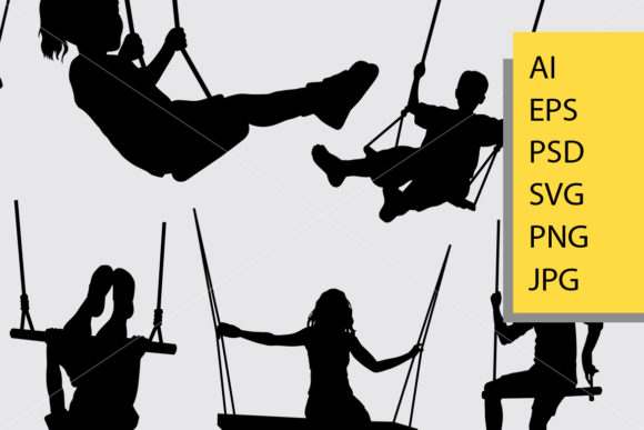 Download Free Swing Silhouette Graphic By Cove703 Creative Fabrica for Cricut Explore, Silhouette and other cutting machines.