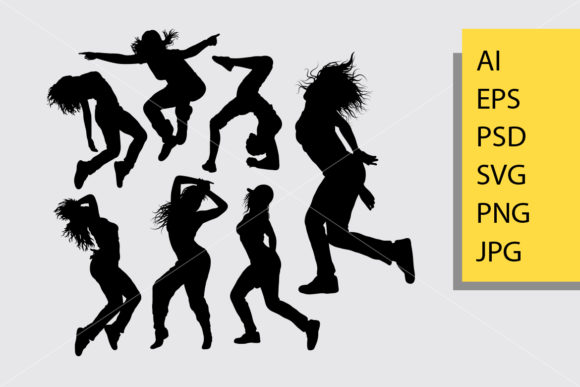 Women Dance Silhouette Graphic By Cove703