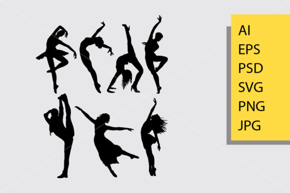 Cool Dancing 1 Silhouette Graphic By Cove703