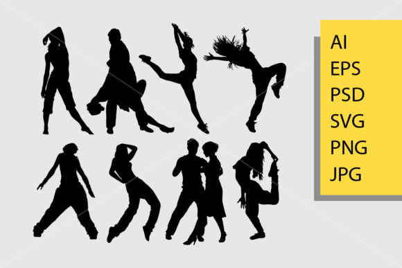 Cool Dancing 4 Silhouette Graphic By Cove703