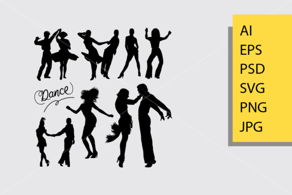Tango and Salsa 4 Silhouette Graphic By Cove703