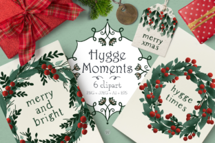 Hygge Moments Christmas Wreaths Graphic By Wallifyer