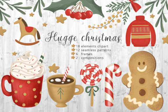 Hugge Christmas Illustrations Gráfico Por By Anna Sokol