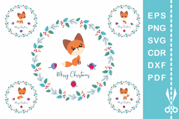 Print on Demand: Cute Fox Cutting and Printable Files Graphic Crafts By Olga Belova