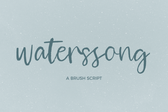 Print on Demand: Waterssong Script & Handwritten Font By BeckMcCormick - Image 1