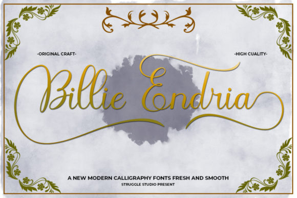 Print on Demand: Billie Endria Script & Handwritten Font By Struggle Studio - Image 1