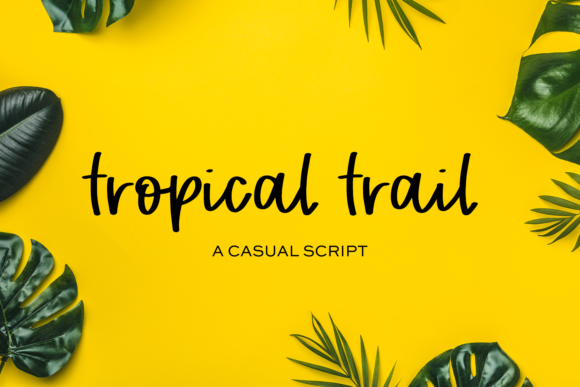 Print on Demand: Tropical Trail Script & Handwritten Font By BeckMcCormick - Image 1