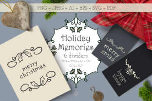 Holiday Memories Christmas Dividers Gráfico Por Wallifyer