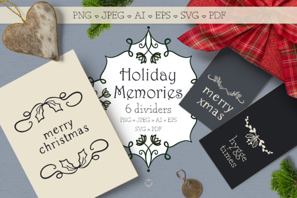 Print on Demand: Holiday Memories Christmas Dividers Graphic Illustrations By Wallifyer - Image 1