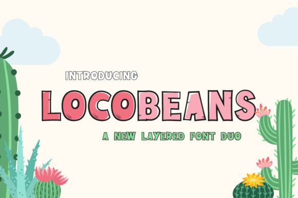 Print on Demand: Locobeans Display Schriftarten von Maroon Baboon