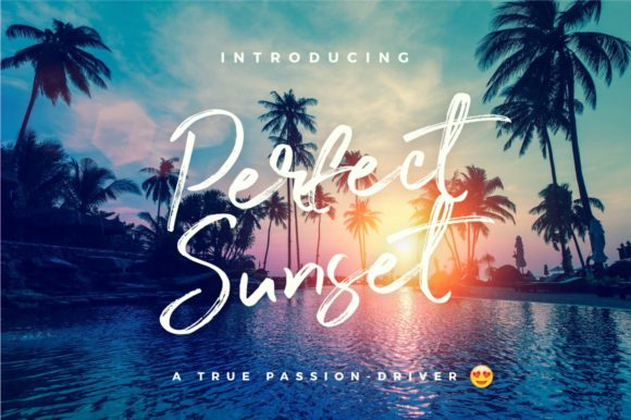 Print on Demand: Perfect Sunset Script & Handwritten Font By wornoutmedia