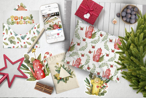 Print on Demand: Sweet Christmas Watercolor Set Graphic Illustrations By By Anna Sokol - Image 14