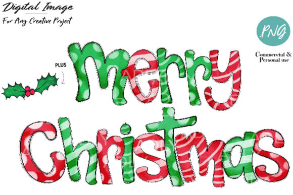 Print on Demand: Merry Chistmas Sublimation Design Graphic Illustrations By adlydigital - Image 1