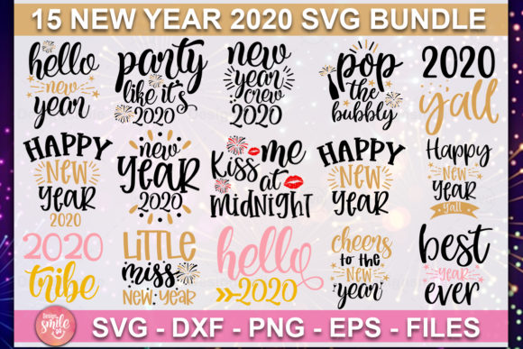 Print on Demand: New Year SVG Bundle Graphic Print Templates By DesignSmile - Image 1