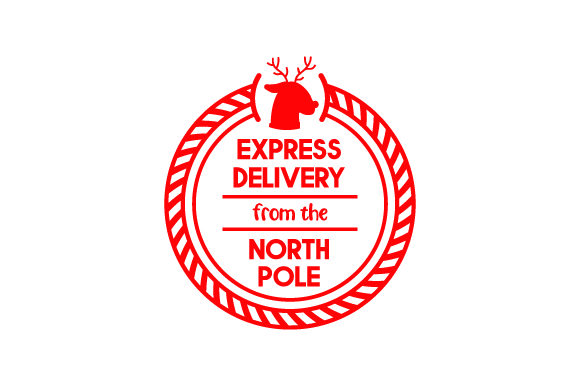 Express Delivery from the North Pole Weihnachten Plotterdatei von Creative Fabrica Crafts