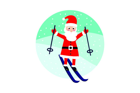 Download Free Santa Skiing Svg Cut File By Creative Fabrica Crafts Creative for Cricut Explore, Silhouette and other cutting machines.