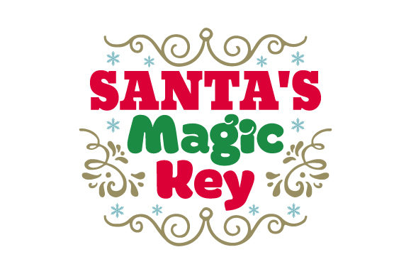 Santa's Magic Key Craft Design By Creative Fabrica Crafts