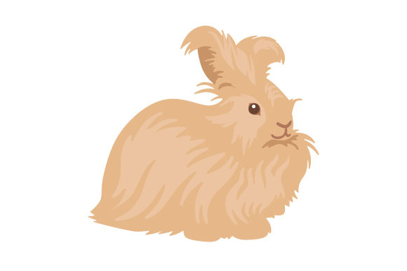 Angora Rabbit Tiere Craft Cut File von Creative Fabrica Crafts